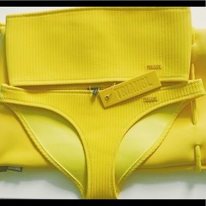 Yellow Triangl two piece bikini😍